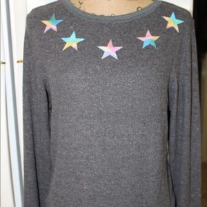 NWOT WILDFOX ROAD TRIP RAINBOW STAR SWEATERSHIRT